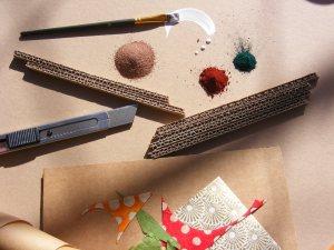 atelier meubles en carton récup